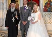 His Grace Bishop Jovan of Sumadija and Their Royal Highnesses Prince George and Princess Fallon