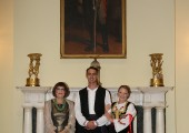 Newlyweds with HE Mrs Maja Gojkovic, Speaker of the Parliament of Serbia