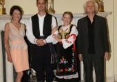 Mrs. Beba Marinkovic, TRH Prince George and Princess Fallon, Mr. Cile Marinkovic