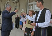HRH Crown Prince Alexander toasts to newlyweds