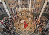 Church wedding in church of St. George in Oplenac