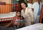 HRH Crown Princess Katherine visiting the children's department of the Clinic for Neurosurgery at the Clinical Center of Serbia