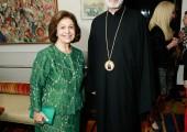 HRH Crown Princess Katherine and Bishop Irinej
