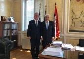 His Royal Highness Crown Prince Alexander and Greek President His Excellency Mr. Prokopis Pavlopoulos
