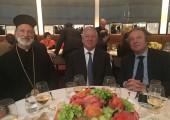 His Grace the Right Reverend Irinej, Bishop of Serbian Orthodox Church Eastern America Diocese, HRH Crown Prince Alexander, Ambassador Milan Milanovic