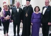 Ms. Vera Matkovic, HRH Crown Prince Alexander, His Grace the Right Reverend Irinej, HRH Crown Princess Katherine and HE Mr. Djerdj Matkovic