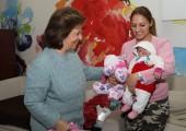 HRH Crown Princess Katherine in humanitarian visit at University Children's Hospital in Tirsova Street