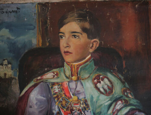 AUGUST 2018, PORTRAIT OF KING PETER II KARADJORDJEVIC / THE FOURTH DECADE OF THE TWENTIETH CENTURY, JOVAN BIJELIC (1884-1964)