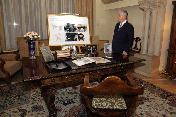 HRH Crown Prince Alexander in the King's office