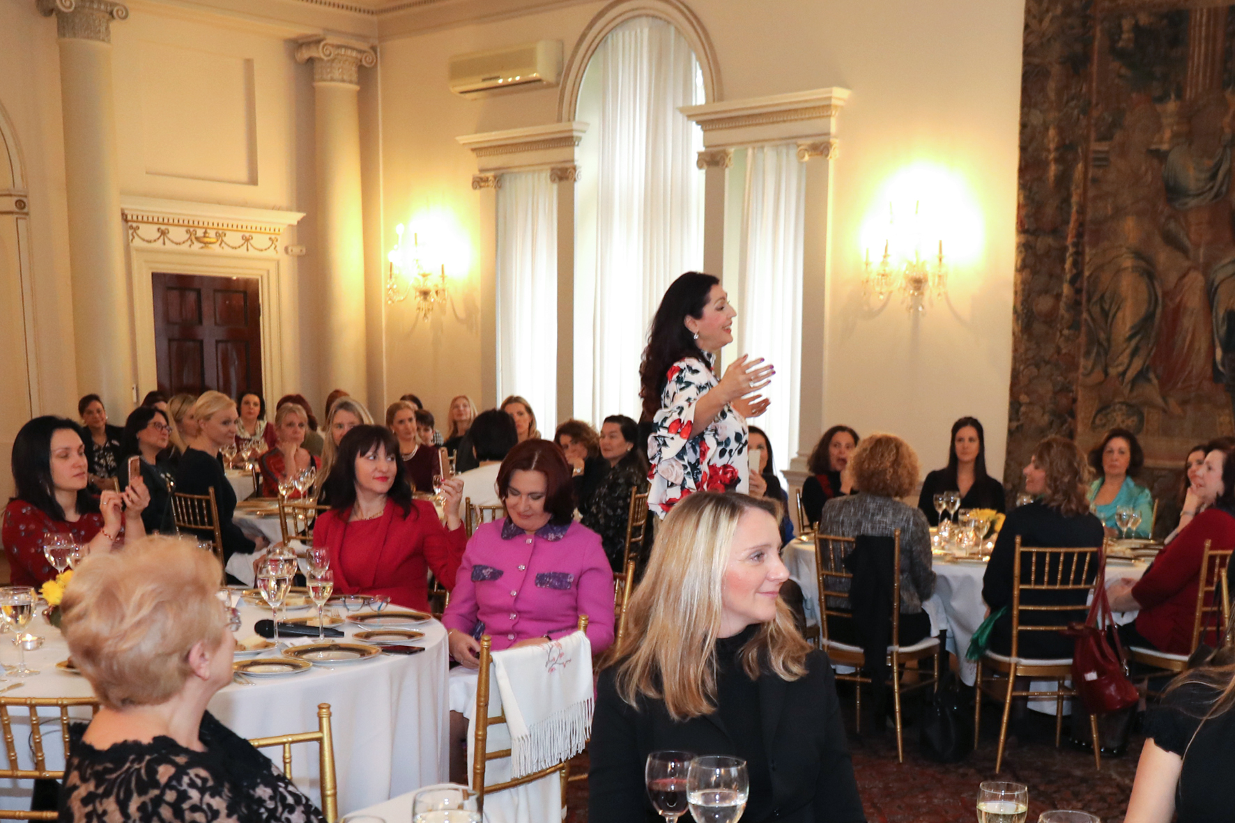 Opera singer Jadranka Jovanovic performs at the traditional Ladies' Lunch