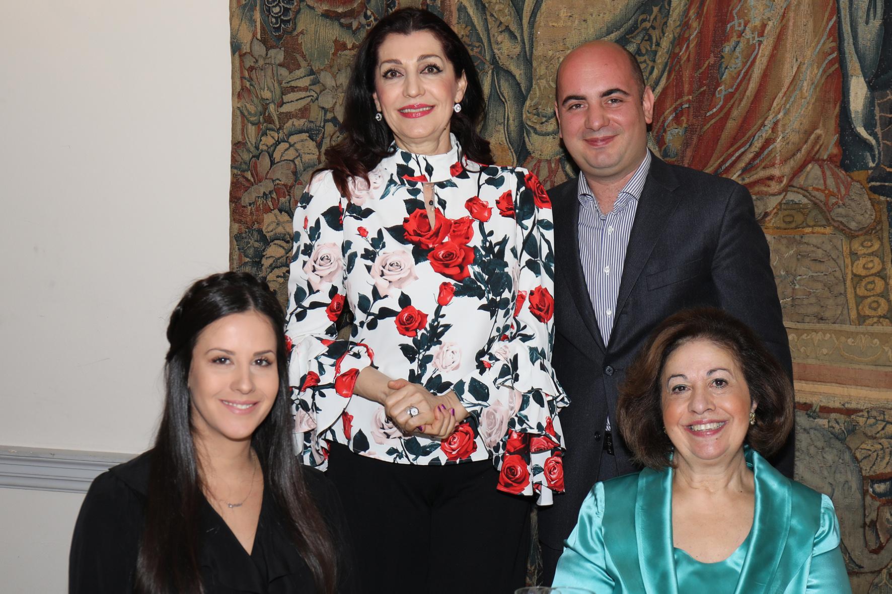 HRH with Mrs. Tamara Vucic, first lady, opera singer Jadranka Jovanovic and guitarist Nemanja Bogunovic