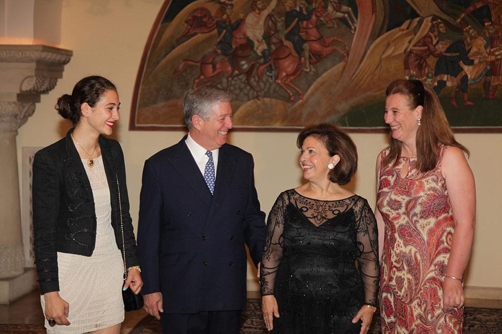 Miss Victoria de Silva, HRH Crown Prince Alexander, HRH Crown Princess Katherine and HRH Princess Katerina (daughter of Prince Tomislav)