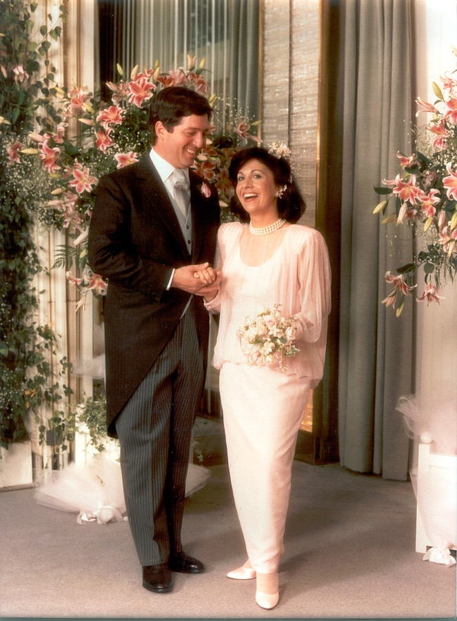 Wedding photograph of HRH Crown Prince Alexander and HRH Crown Princess Katherine
