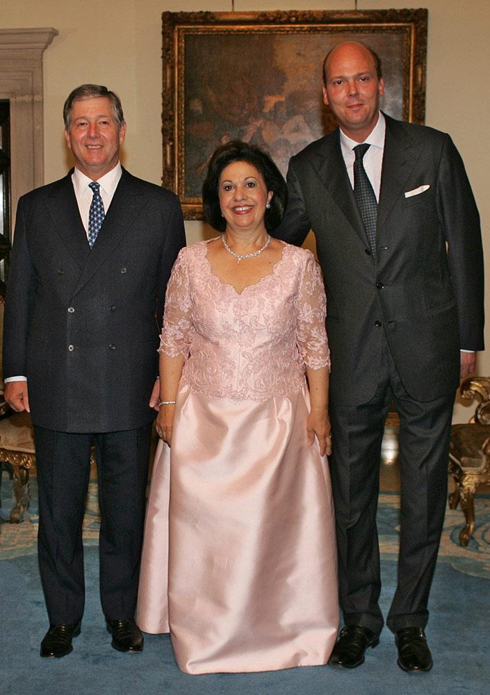 HRH Crown Prince Alexander, HRH Crown Princess Katherine and HRH Prince Serge (grandson of Prince Paul)