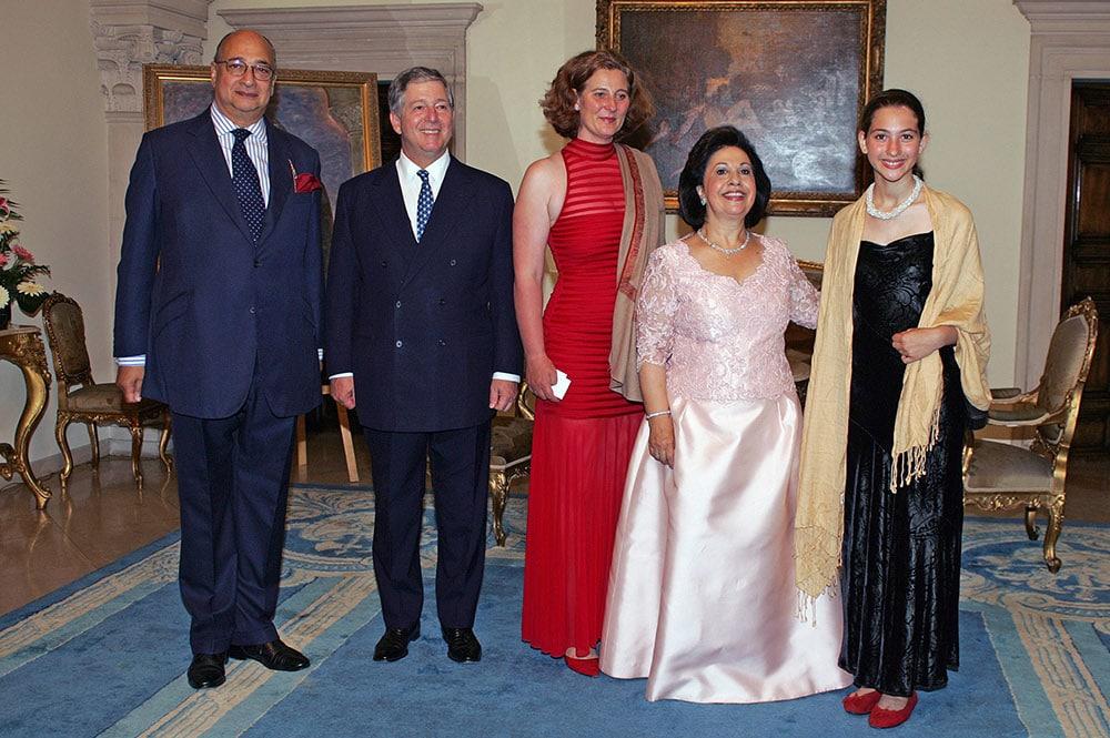 Sir Desmond de Silva, HRH Crown Prince Alexander, HRH Princess Katerina (daughter of Prince Tomislav), HRH Crown Princess Katherine and Miss Victoria de Silva