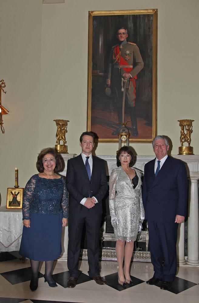 HRH Crown Princess Katherine, HRH Prince Philip, HRH Princess Elizabeth and HRH Crown Prince Alexander