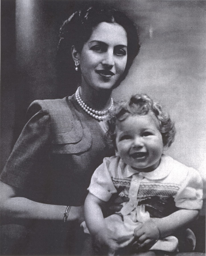 Her Majesty Queen Alexandra with son HRH Crown Prince Alexander
