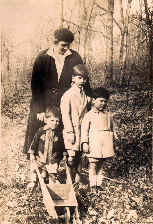 HM Queen Maria with sons TRH Crown Prince Peter, Prince Andrej and Prince Tomislav