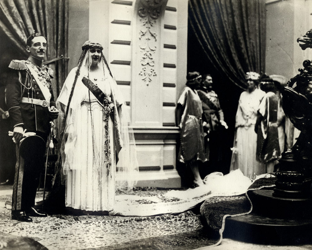 Their Majesties King Alexander I and Queen Maria on their Wedding day, 8 June 1922