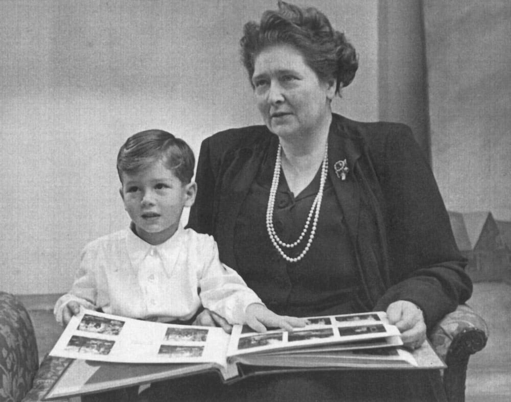 HM Queen Maria with her grandson HRH Crown Prince Alexander