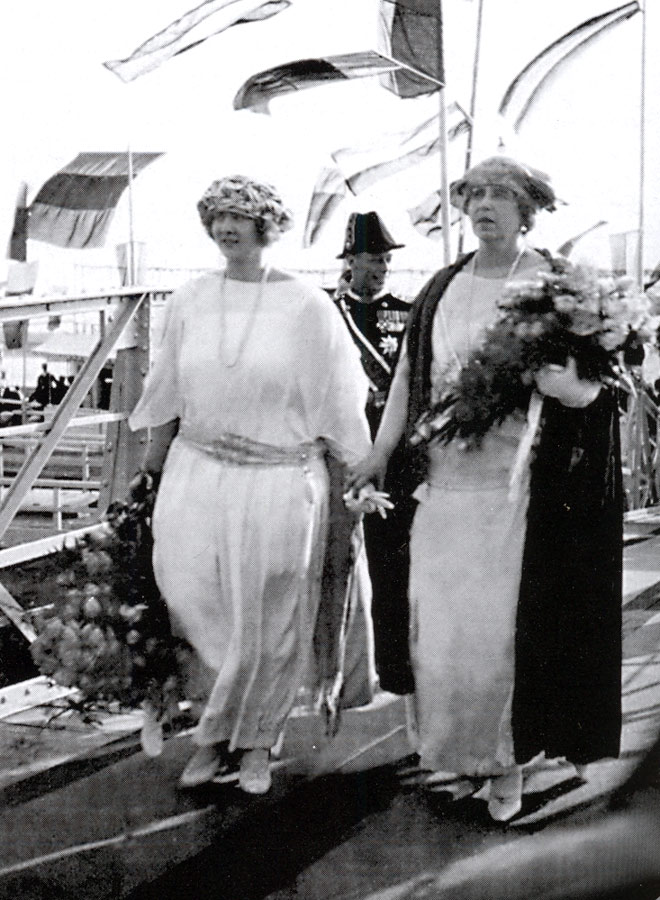 HM Queen Maria with her mother HM Queen Maria of Romania