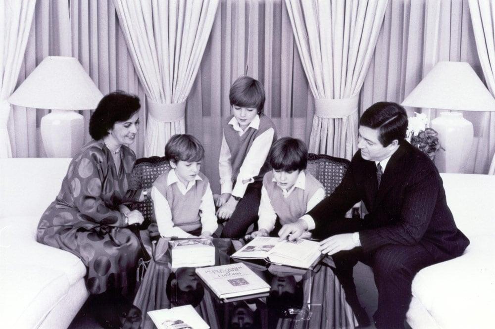 HRH PCrown Princess Katherine, HRH Prince Peter, HRH Prince Philip, HRH Prince Alexander and HRH Crown Prince Alexander