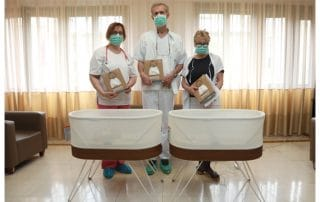 CROWN PRINCESS KATHERINE THANKS HAPPIEST BABY INC. FOR DONATING SNOOS TO NARODNI FRONT HOSPITAL
