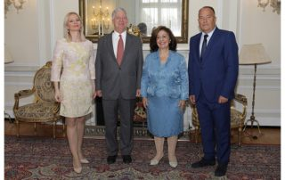 HRH Crown Prince Alexander and Crown Princess Katherine with the Minister of Education of the Republic of Serbia HE Mr Mladen Sarcevic and the Minister of Education and Culture of Republika Srpska, HE Mrs Natalija Trivic