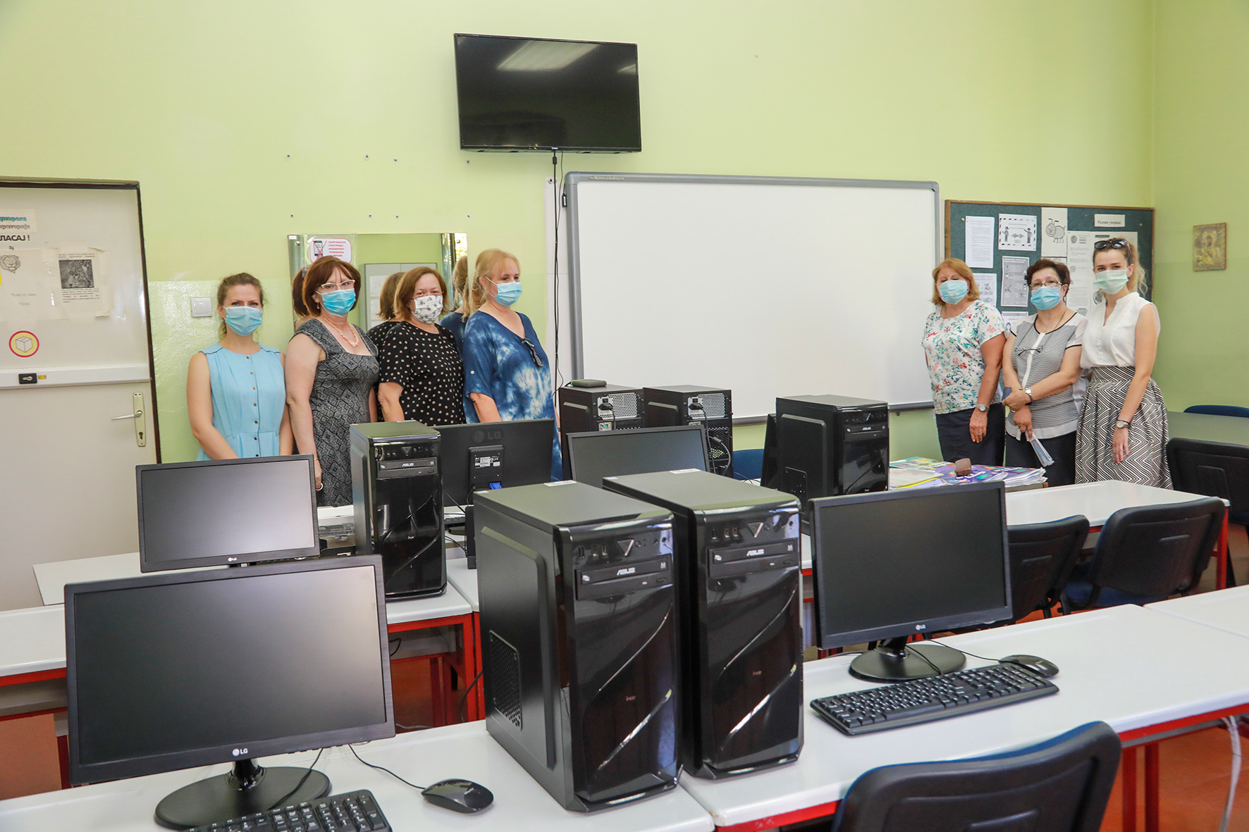DONATION OF 7 INTERACTIVE BOARDS FOR EDUCATION OF HEARING IMPAIRED CHILDREN