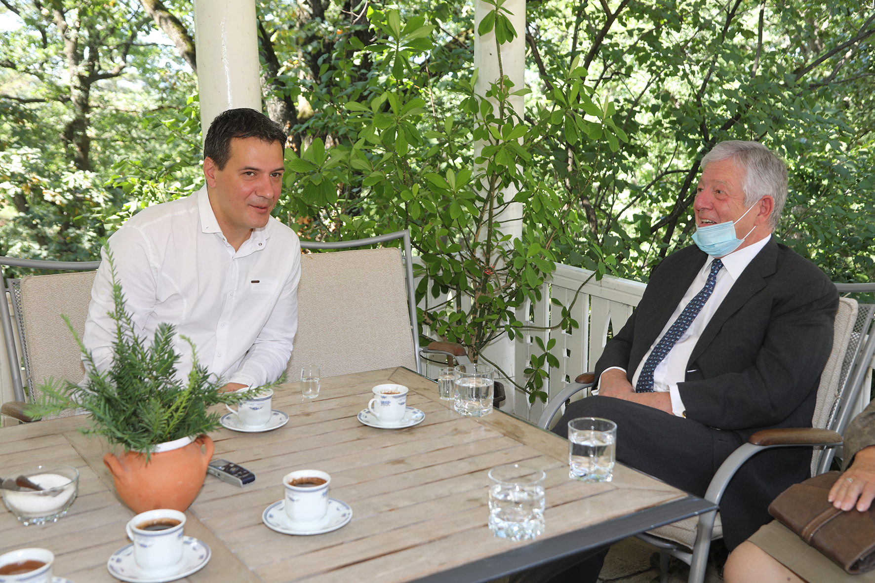 HRH Crown Prince Alexander with the President of the municipality of Topola, Mr. Igor Petrovic