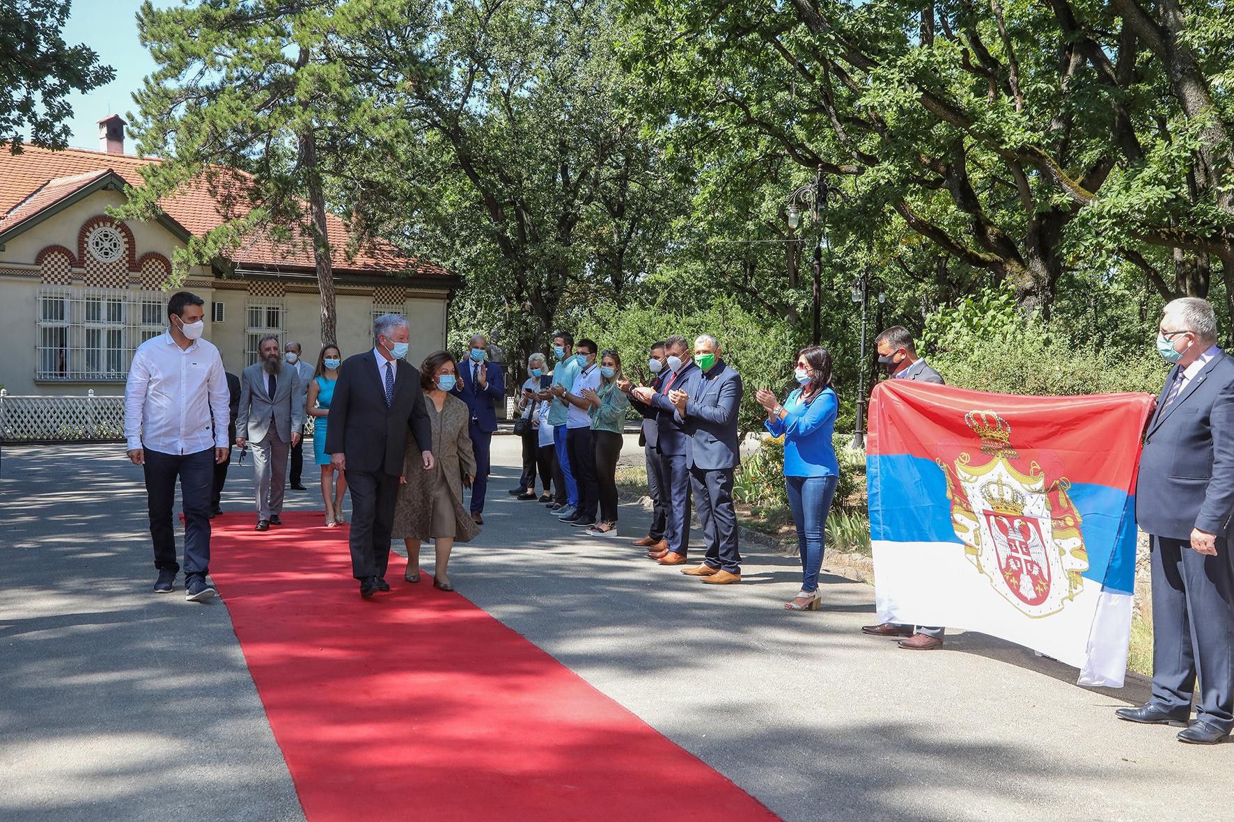 Kingdom of Serbia Association welcomes TRH at Oplenac