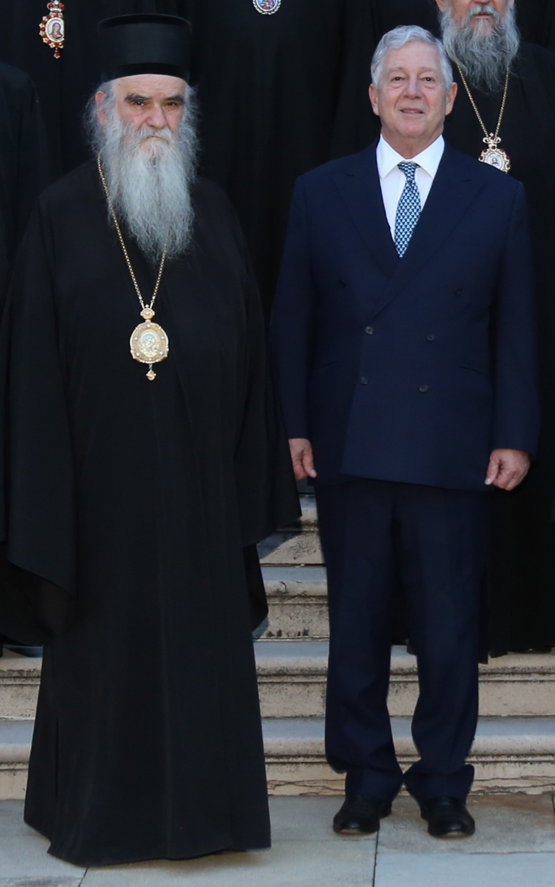 Crown Prince Alexander with the late Metropolitan Amfilohije of Montenegro