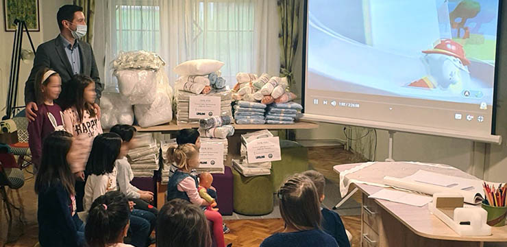 HRH CROWN PRINCESS KATHERINE OF SERBIA AND LIFELINE HUMANITARIAN ORGANIZATION OF CHICAGO PROVIDE AID TO CHILDREN'S HOME IN BANJA LUKA, REPUBLIKA SRPSKA
