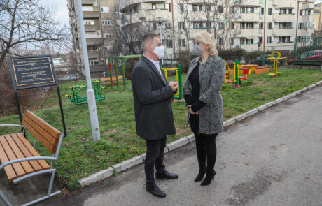 Minister of Labor, Employment, Veteran and Social Affairs, Prof. Dr. Darija Kisic Tepavcevic and The director of the Center for the Protection of Infants, Children and Youth Zvecanska Zoran Milacic