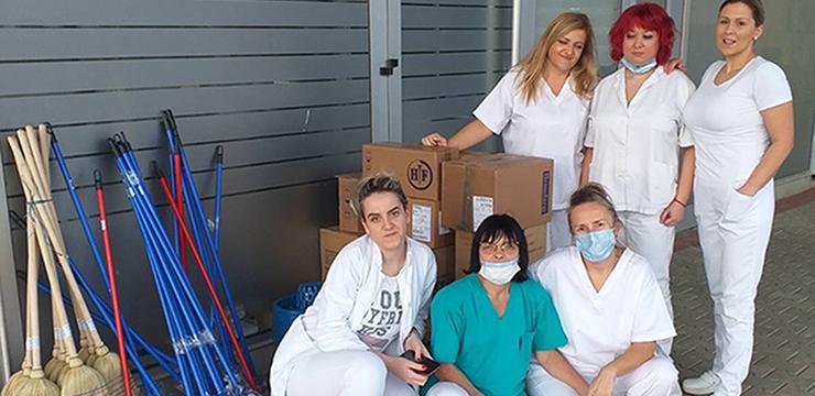 Donation for COVID Hospital in Kragujevac