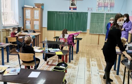 Donation of Princess Katherine Foundation and L'Oréal Balkan company to schools throughout Serbia on Patrons saint's day, St. Sava