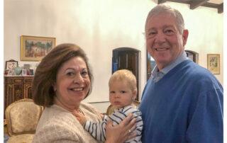 Their Royal Highnesses Crown Prince Alexander and Crown Princess Katherine with their grandson HRH Prince Stefan