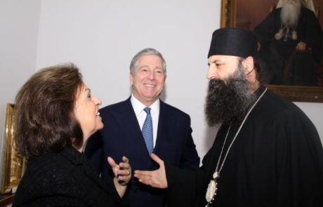 Their Royal Highnesses and newly elected Patriarch of Serbia, His Holiness Porfirije