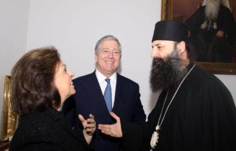 Njihova Kraljevska Visočanstva i novoizabrani Patrijarh Srpski, Njegova Svetost Porfirije