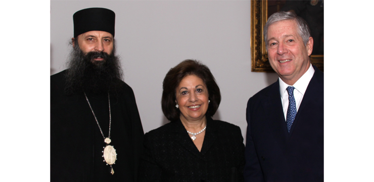 Their Royal Highnesses and newly elected Patriarch of Serbia, His Holiness Portfirije