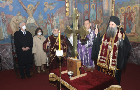 Patriarch Porfirije consecrates Holy Cross for Royal Chapel