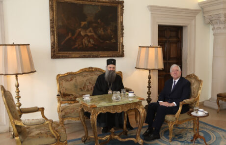 HRH Crown Prince Alexander in conversation with Patriarch Porfirije
