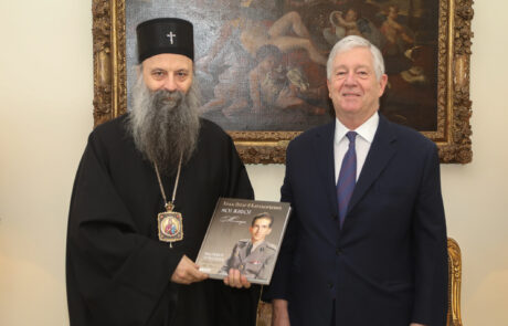 HRH Crown Prince Alexander and Patriarch Porfirije