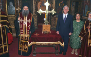 PATRIARCH PORFIRIJE CONSECRATES HOLY CROSS FOR ROYAL CHAPEL OF SAINT ANDREW THE FIRST CALLED