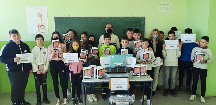 Donation for the Petar Petrovic Njegos Elementary School in Kosovo and Metohija