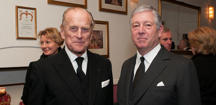 HRH Crown Prince Alexander with Duke of Edinburg Prince Philip