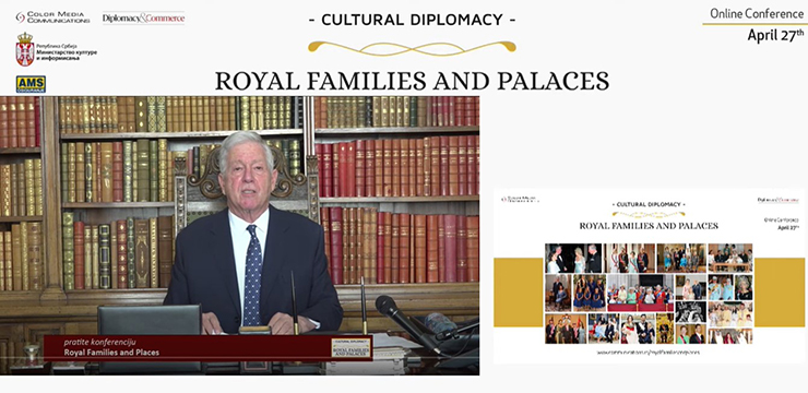 "Crown Prince Alexander at the conference ""Cultural Diplomacy: Royal Families and Palaces"""