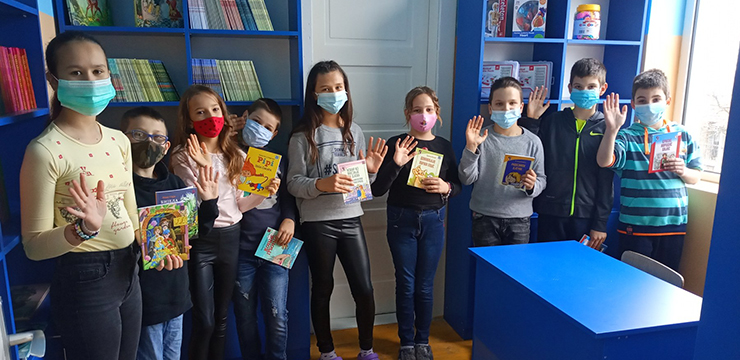 CROWN PRINCESS KATHERINE AND LIFELINE CHICAGO PROVIDE NEW LIBRARY FOR SCHOOL IN REPUBLIKA SRPSKA