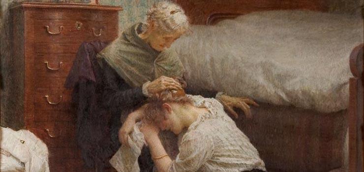 Repentance, Vlaho Bukovac, 1914.