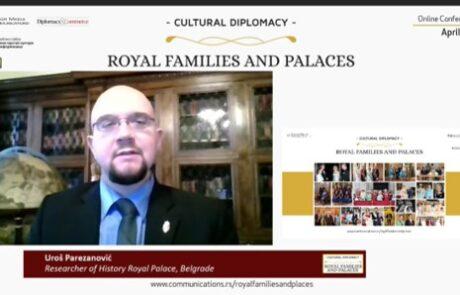 """Г. Урош Парезановић на конференцији """"Културна дипломатија: Краљевске породице и палате"""""""